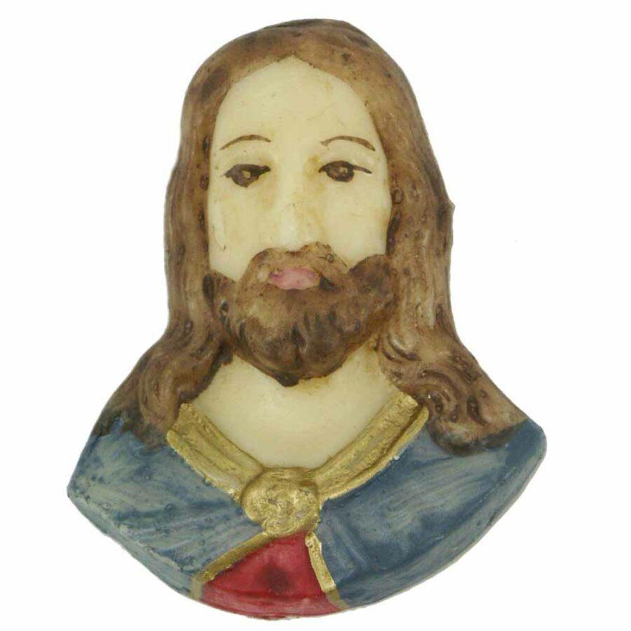 Jesus als Brustfigur in Wachs für Klosterarbeiten