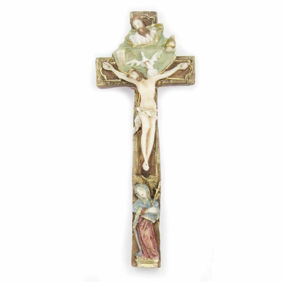 Wachskreuz mit Hl. Dreifaltigkeit für Klosterarbeiten