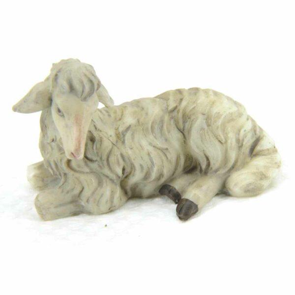 Schaf liegend aus Wachs für Klosterarbeiten