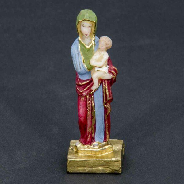 Madonna mit Kind als Statue aus Wachs für Klosterarbeiten