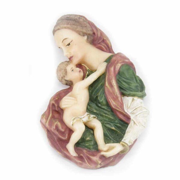 Brustmadonna mit Kind aus Wachs für Klosterarbeiten