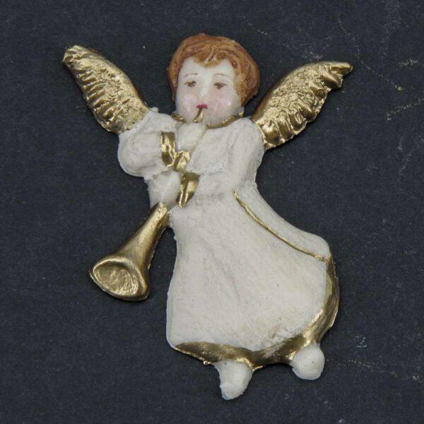 Engel fliegend mit Musikinstrumenten aus Wachs für Weihnachten
