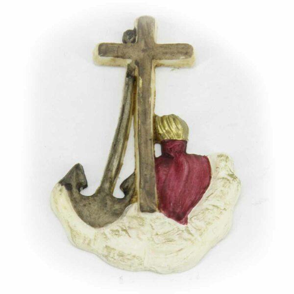 Kreuz mit Glaube-Liebe-Hoffnung in Wachs