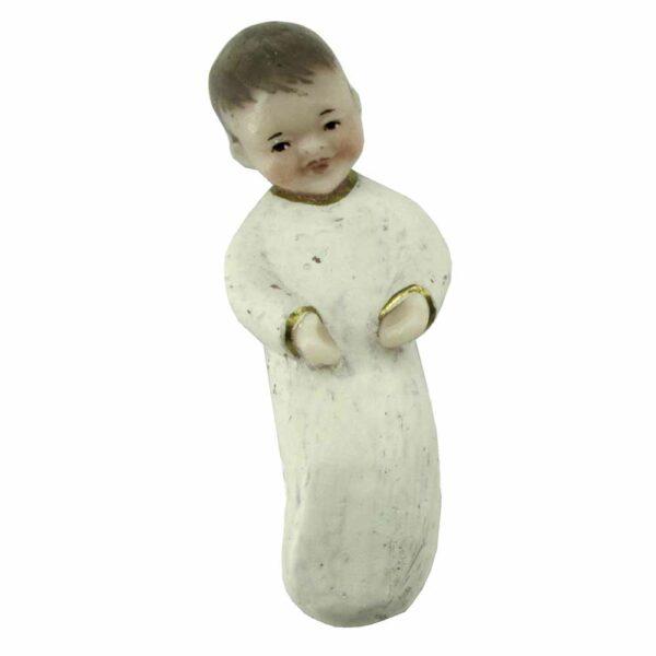 Jesukind mit Hemd aus Wachs für Klosterarbeiten