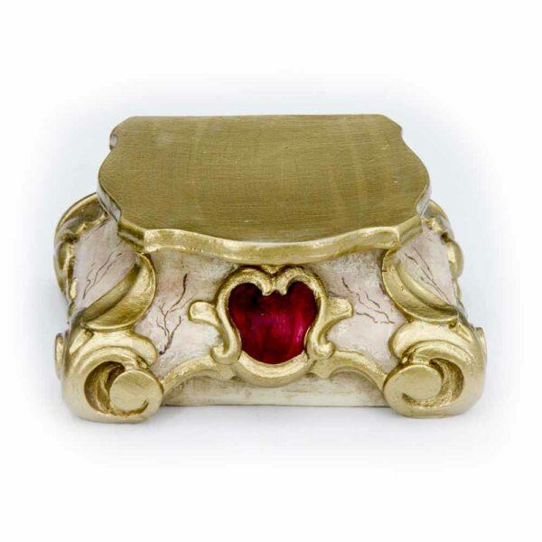 Barocksockel marmoriert mit goldenem Rand aus Wachs
