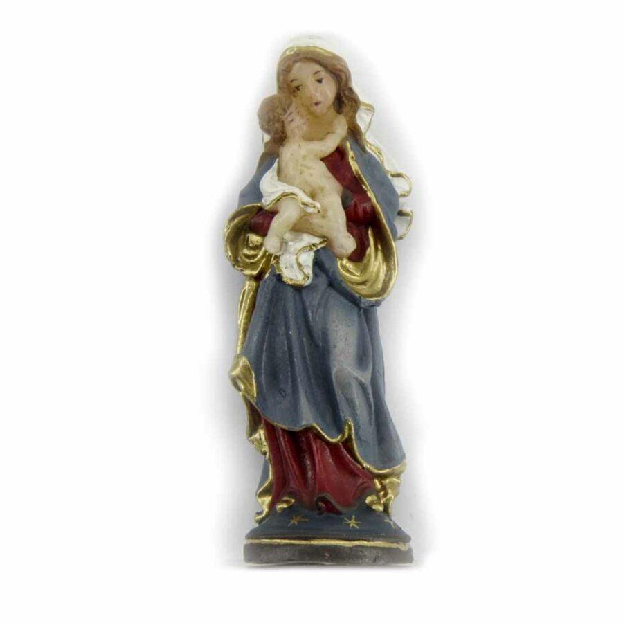 Madonna mit Kind als Statue in Wachs