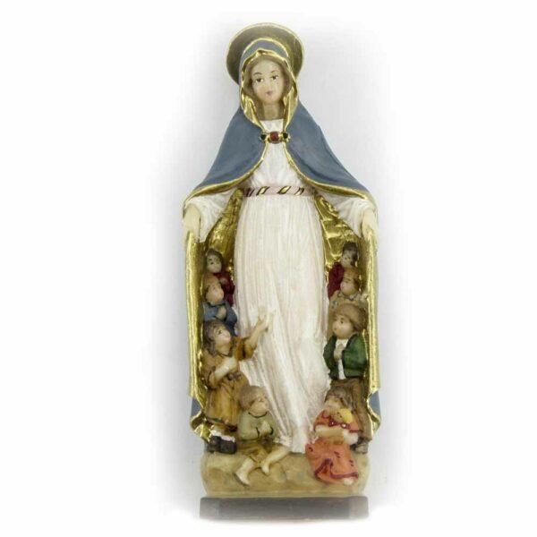 Mantelmadonna als Statue aus Wachs für Klosterarbeiten