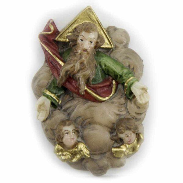 Medaillion mit Gott-Vater aus Wachs für Klosterarbeiten