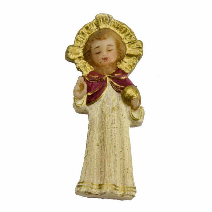 Jesuskind stehend mit Heiligenschein in Wachs