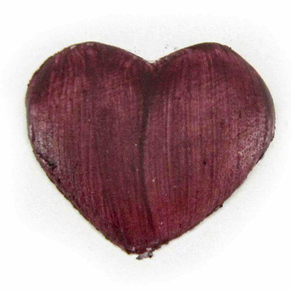 Rotes Herz aus Wachs für Klosterarbeiten