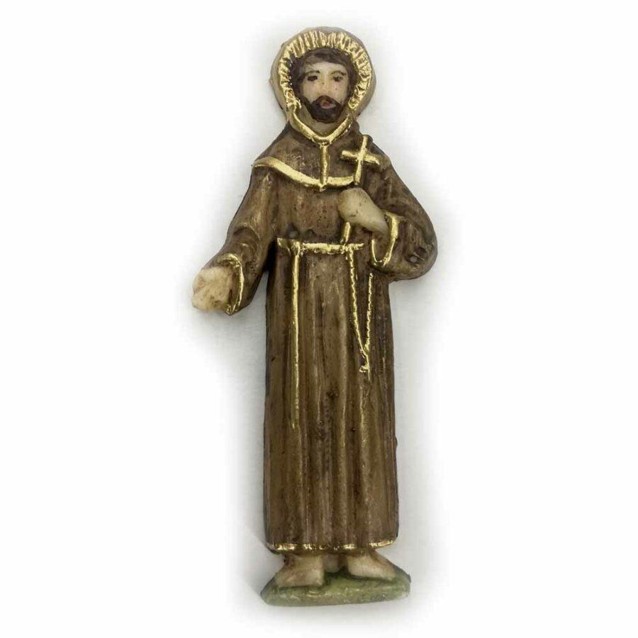 Hl. Georg, flache Figur, Wachs, 6,5cm