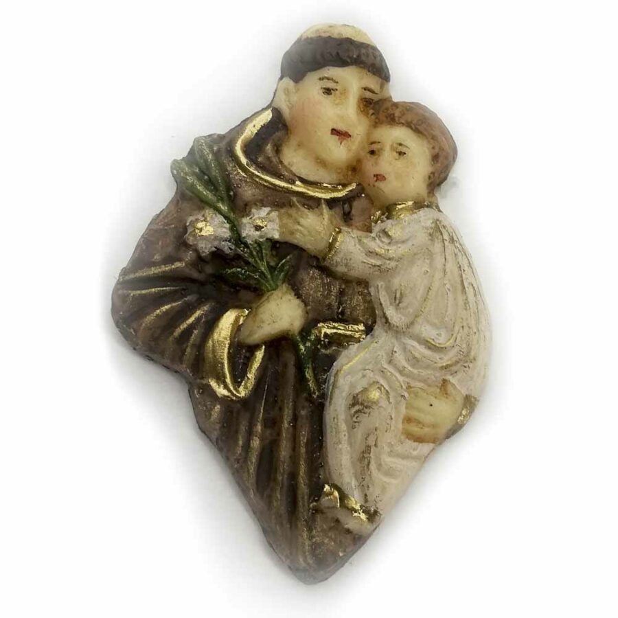 Hl. Antonius als Brustfigur in Wachs handbemalt für Klosterarbeiten