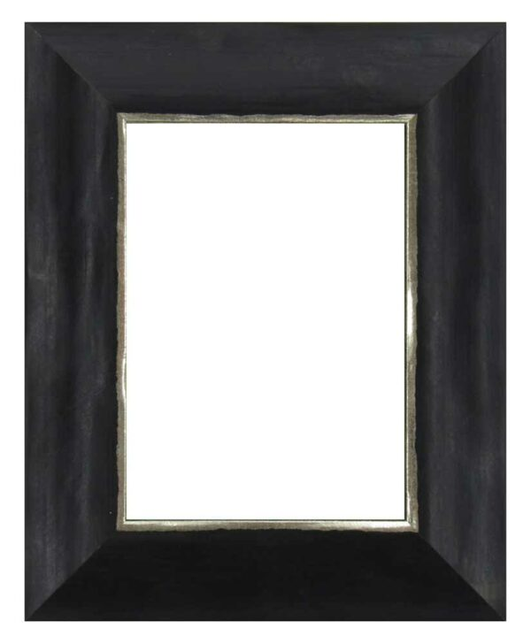 Bilderrahmen aus Holz, Klosterarbeiten, Farbe Schwarz