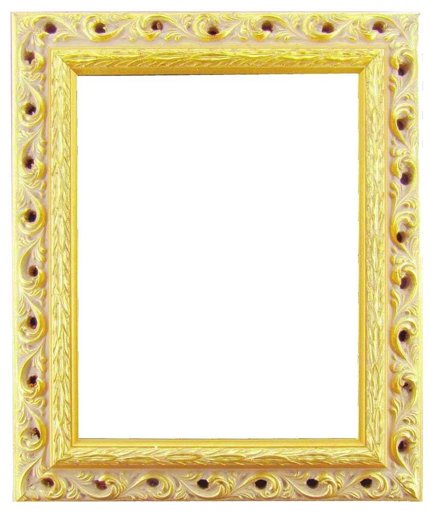 Bilderrahmen aus Holz, Klosterarbeiten, Farbe Gold