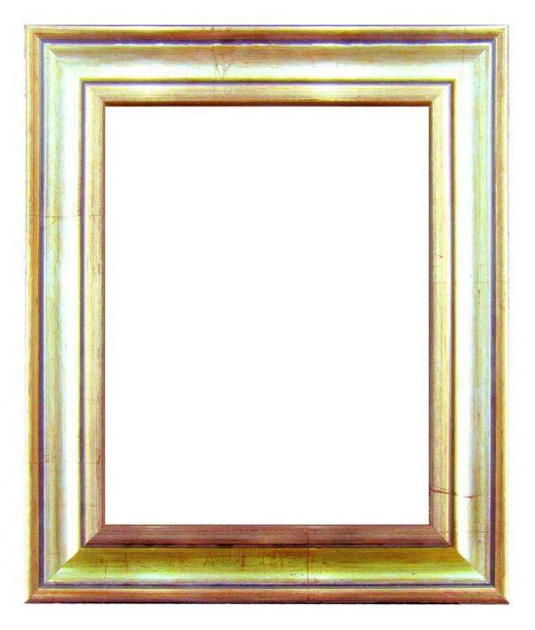 Bilderrahmen aus Holz, Klosterarbeiten, Farbe Silber