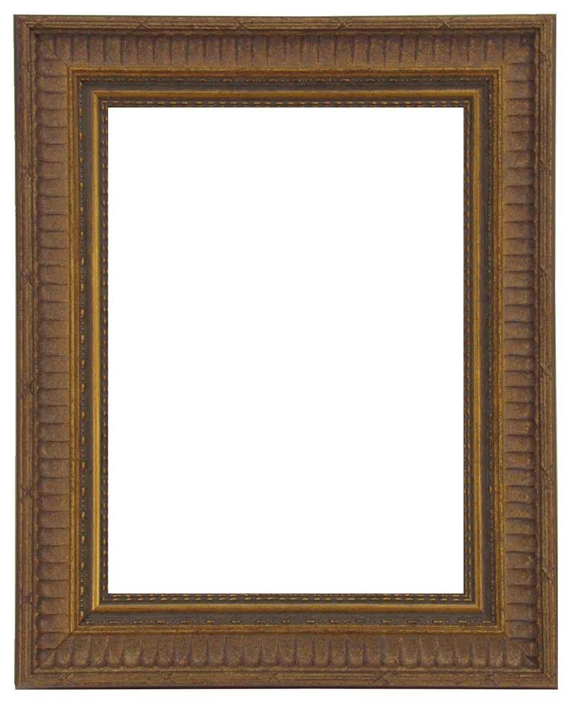 Bilderrahmen aus Holz, Reliefdekor, Klosterarbeiten, Farbe Gold