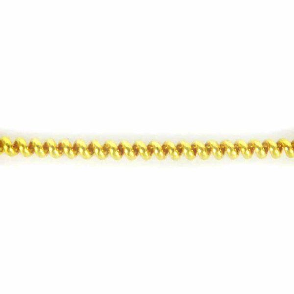 Perldraht in vergoldet mit einem Durchmesser von 0,75mm für Klosterarbeiten