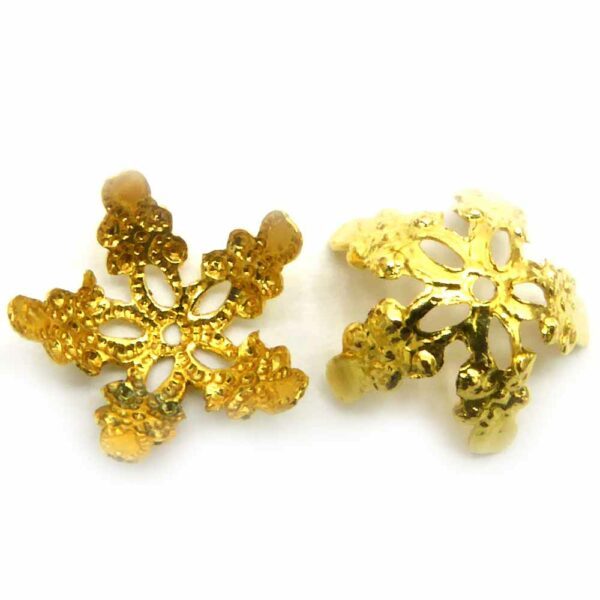Perlkappen in gold-gebeizt filigran für Klosterarbeiten