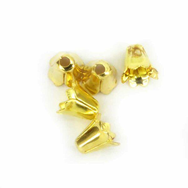 Perlkappen in gold-gebeizt in Form einer kompakten Krone für Klosterarbeiten