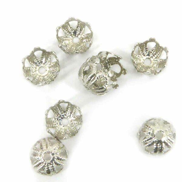Perlkappen in silber für Klosterarbeiten