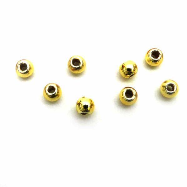 Perlen in gold mit einem Durchmesser von 2mm für Klosterarbeiten