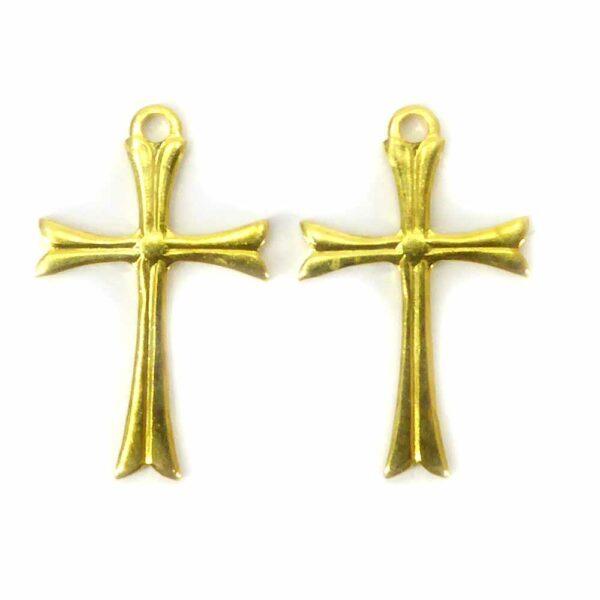 Metallkreuze in gold und gerader Form für rosenkranz geeignet