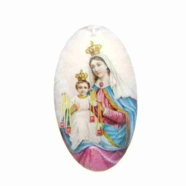Heiligenbilder aus Kunststoff in oval für Klosterarbeiten
