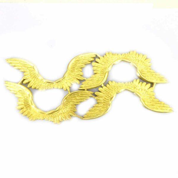 Engelflügel aus geprägtem Goldpapier für Klosterarbeiten