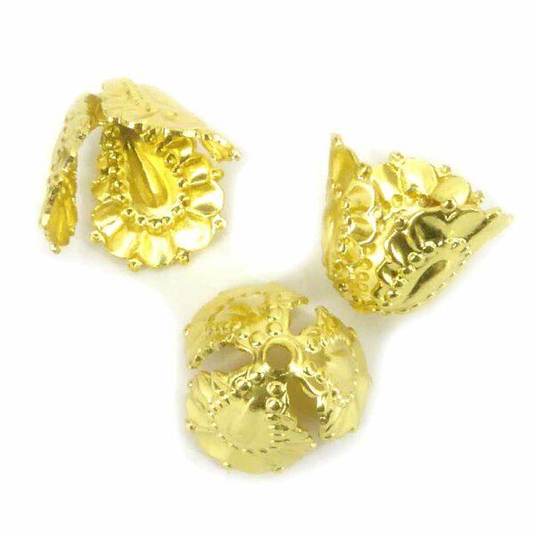 Perlkappen in gold und Kelchform für Klosterarbeiten