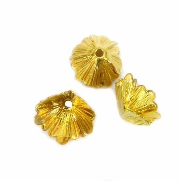 Perlkappen in gold für Klosterarbeiten