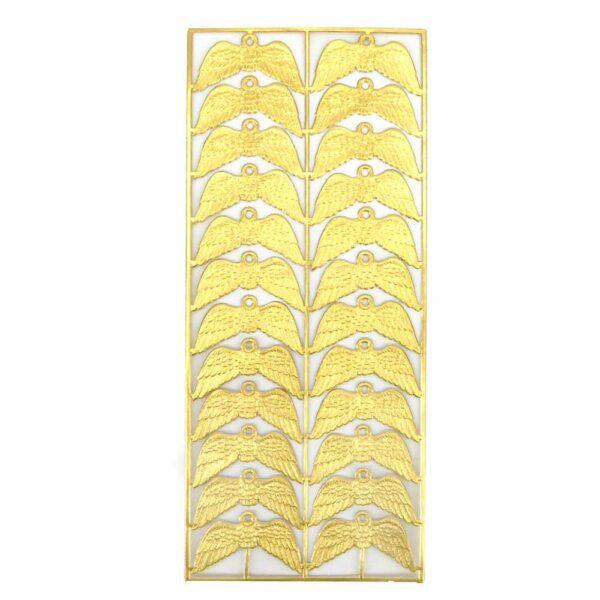 Engelflügel in gold mit geprägter Oberfläche für Klosterarbeiten