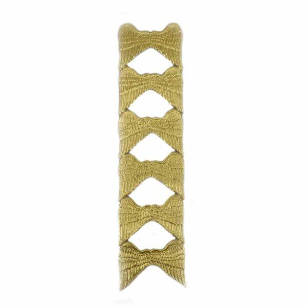 Engelflügel aus Papier in gold für Klosterarbeiten