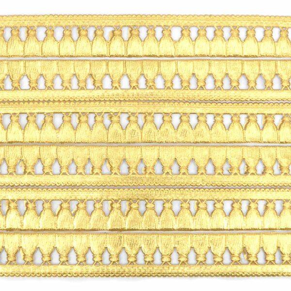 Borte aus geprägtem Goldpapier für Krüllarbeiten und Klosterarbeiten