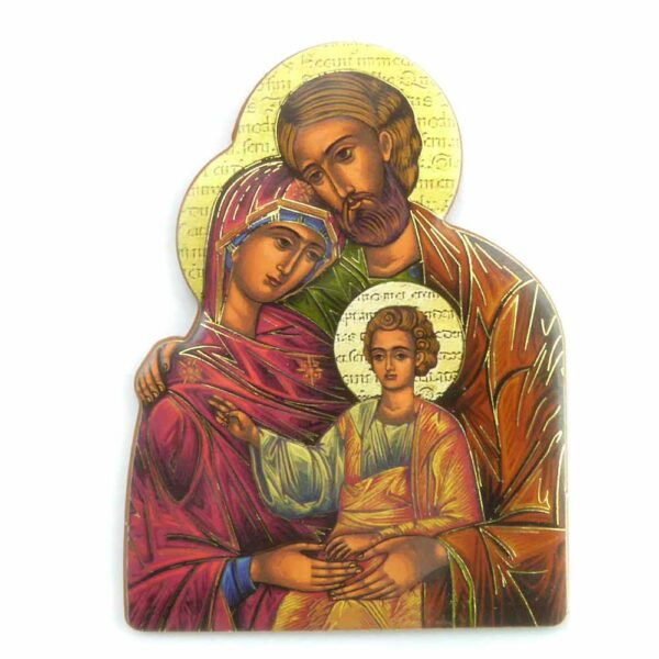 Bildtafel aus Holz mit Heiliger Familie für Klosterarbeiten
