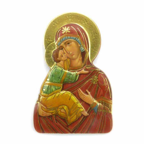 Bildtafel aus Holz mit dem Motiv einer Madonna für Klosterarbeiten