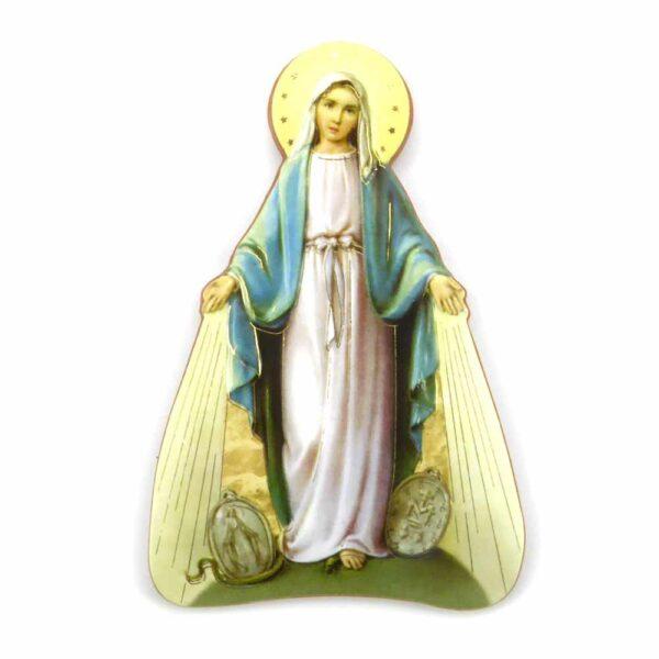 Bildtafel aus Holz mit dem Motiv der Madonna von Lourdes für Klosterarbeiten