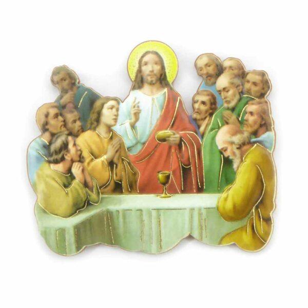 Bildtafel aus Holz mit dem Motiv Letztes Abendmahl für Klosterarbeiten