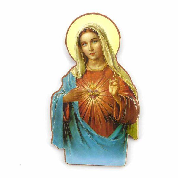 Bildtafel aus Holz mit Herz Maria für Klosterarbeiten