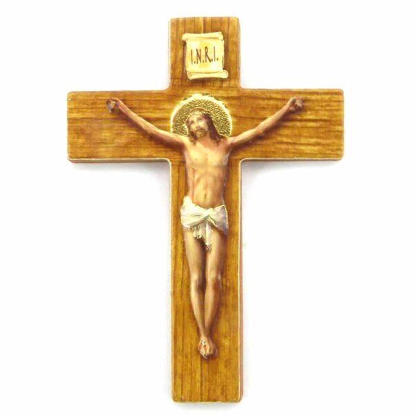Bildtafel aus Holz mit dem Motiv des Kreuzes für Klosterarbeiten