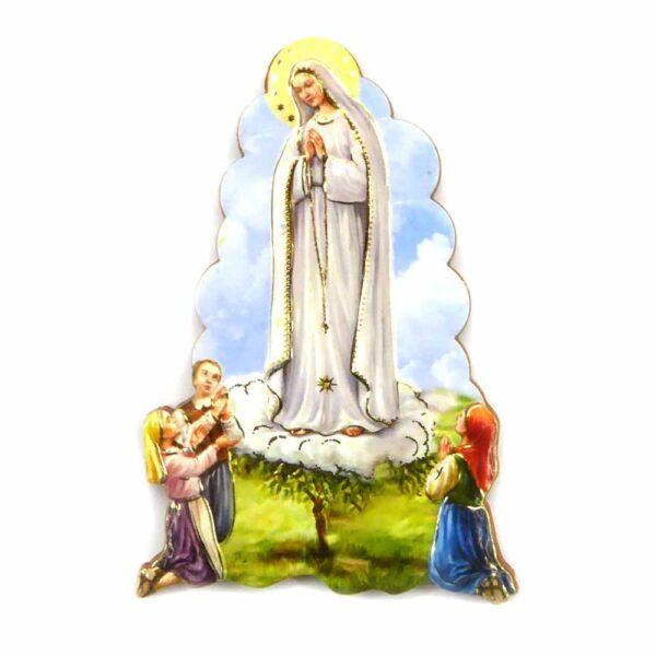 Bildtafel aus Holz mit dem Motiv Madonna von Lourdes für Klosterarbeiten