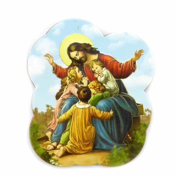 Bildtafel aus Holz mit dem Motiv Gott Vater für Klosterarbeiten