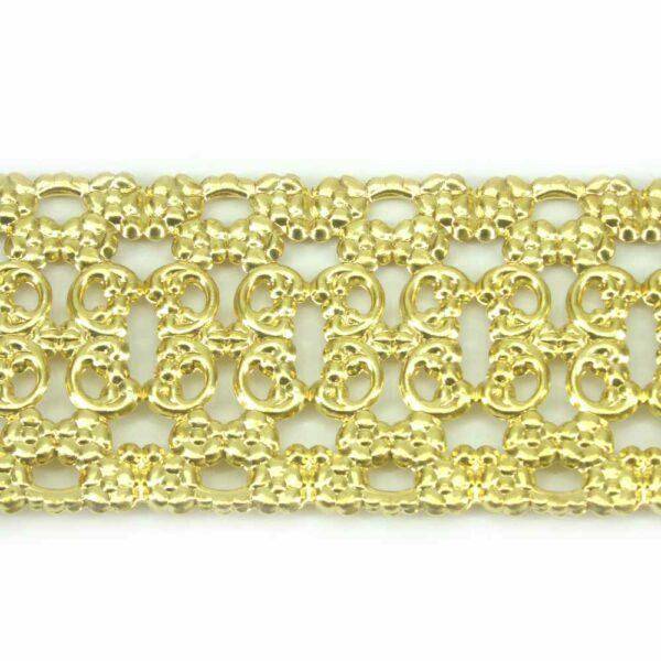 Gallerie als Bordüre aus Metall in gold für Klosterarbeiten