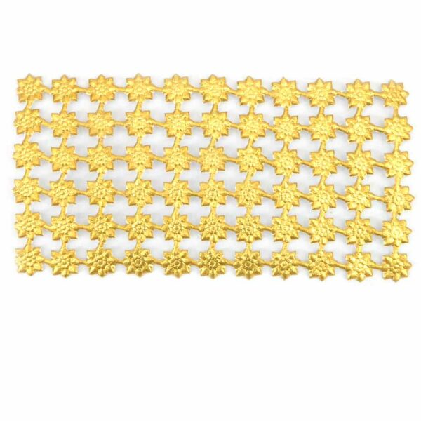 Stern aus Papier in gold für Klosterarbeiten