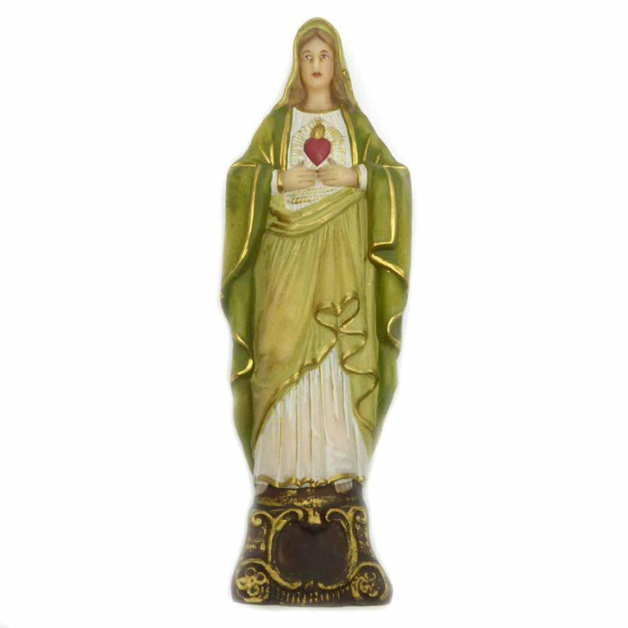 Herz Maria aus Wachs als Statue auf Sockel für Klosterarbeiten