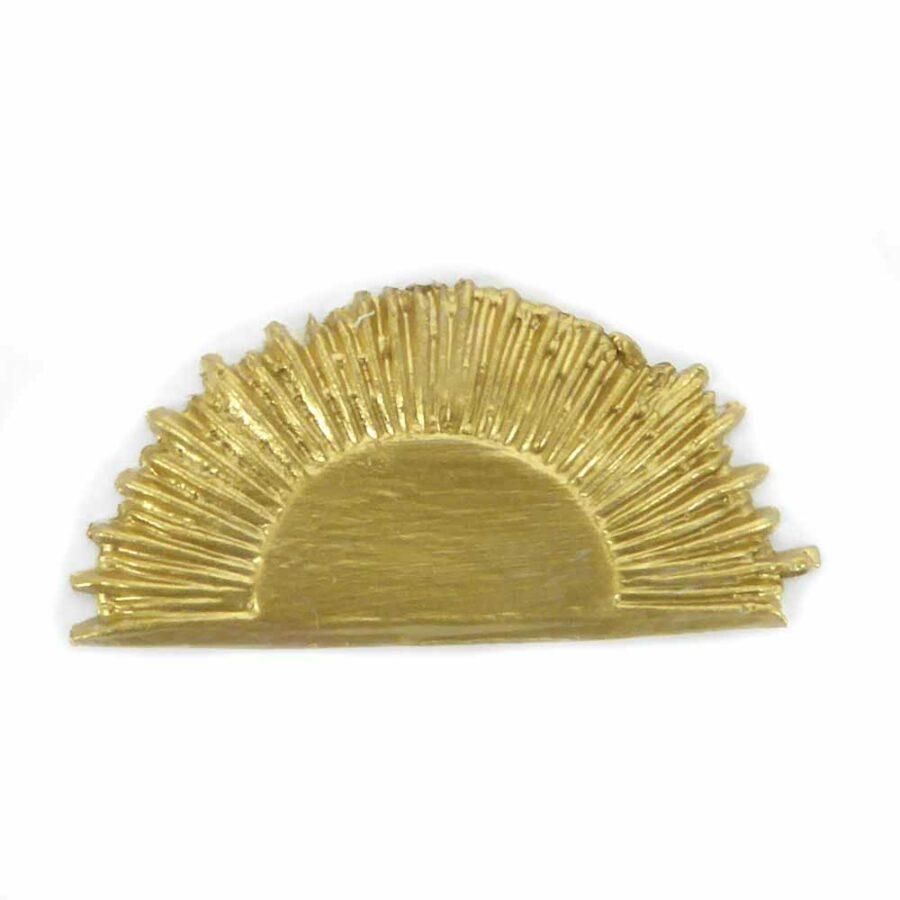 Heiligenschein in halbrunder Form aus Wachs in gold für Klosterarbeiten