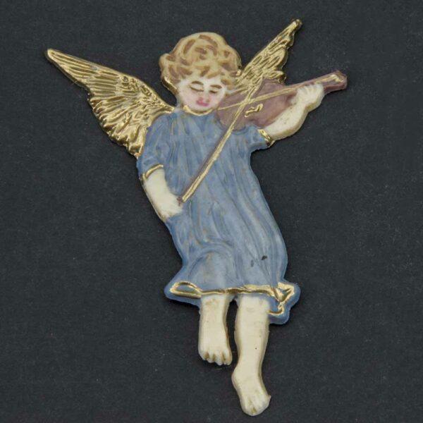 Engel fliegend und musizierend aus Wachs für Klosterarbeiten