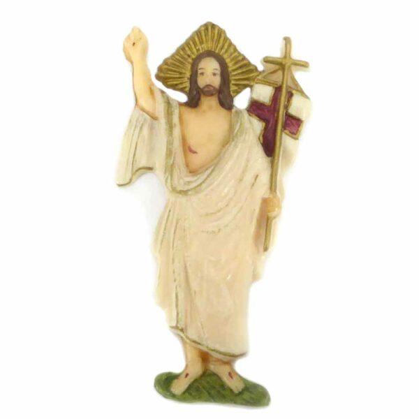Auferstandener Jesus aus handbemaltem Wachs für Klosterarbeiten