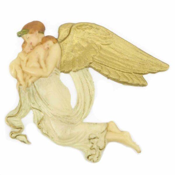 fliegender Engel mit Kinder aus Wachs für Klosterarbeiten oder Kerzen