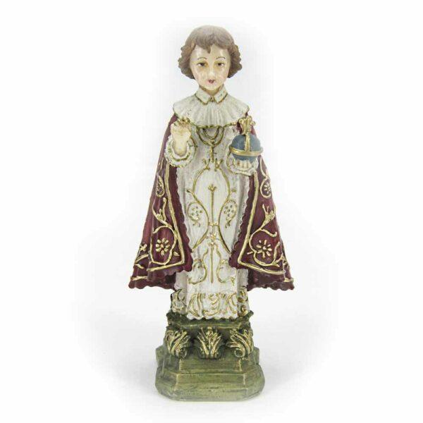 Prager Jesulein aus handbemaltem Wachs für Klosterarbeiten