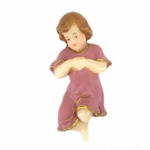 Jesukind mit Kleid aus handbemaltem Wachs für Klosterarbeiten